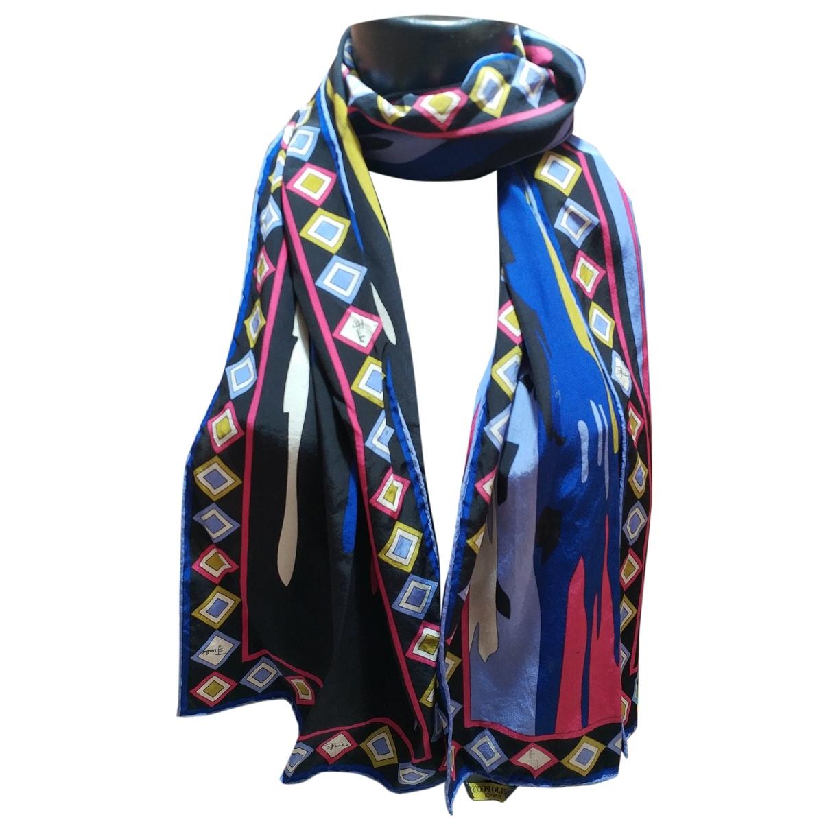 Emilio Pucci \N Blue Silk scarf for Women \N
