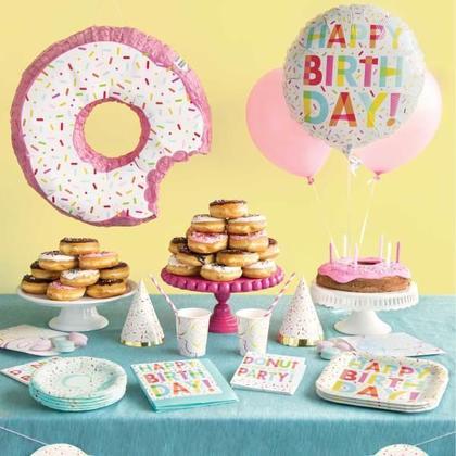 Donut Party Beverage Napkins, 16ct - Foil Stamped Pour la fête d'anniversaire