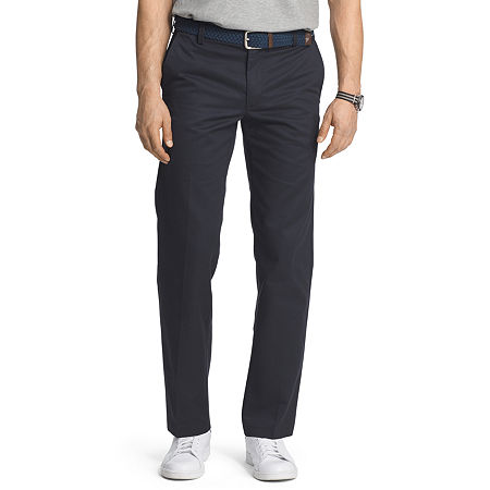 IZOD American Chino Mens Slim Fit, 33 30, Blue