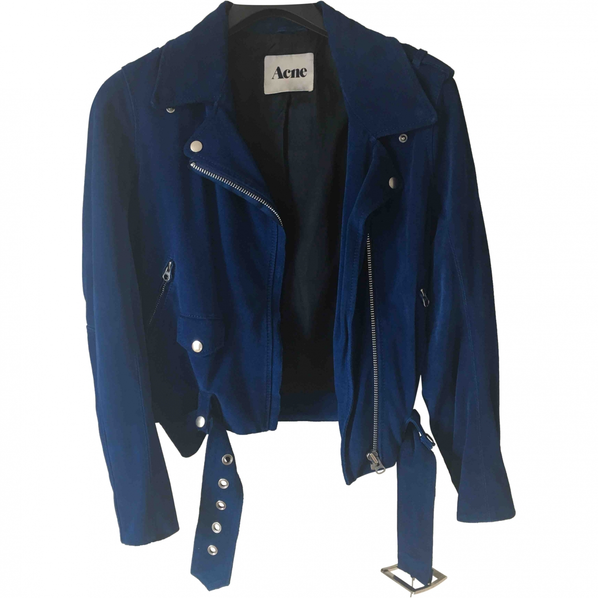 Acne Studios \N Blue Suede Leather jacket for Women 38 FR
