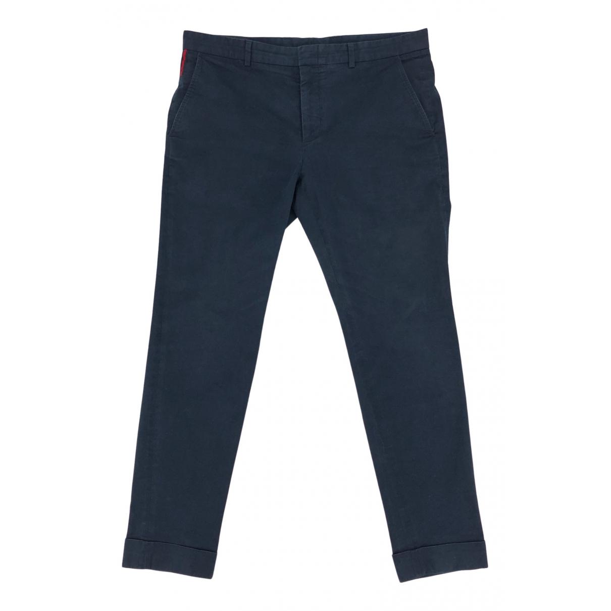 Gucci N Blue Cotton Trousers for Men 34 UK - US