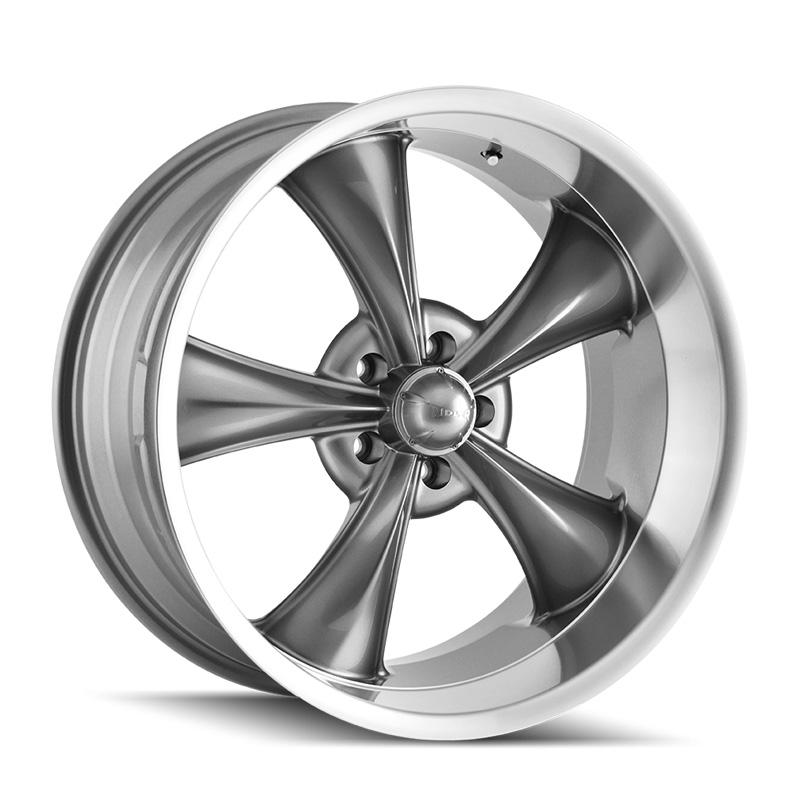 Ridler 695 Grey | Machined Lip 17x7 5x114.3 0mm 83.82mm Wheel