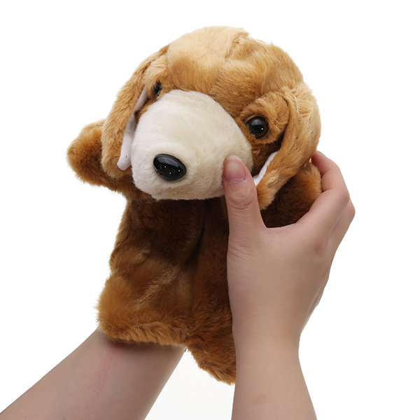 Puppy Dog Fairy Tale Hand Puppet Plush Toy Classical Children Animal Stuffed Toy