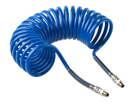 RS PRO 3.6m Blue Coil Tubing with Connector, Nylon, BSP 1/4