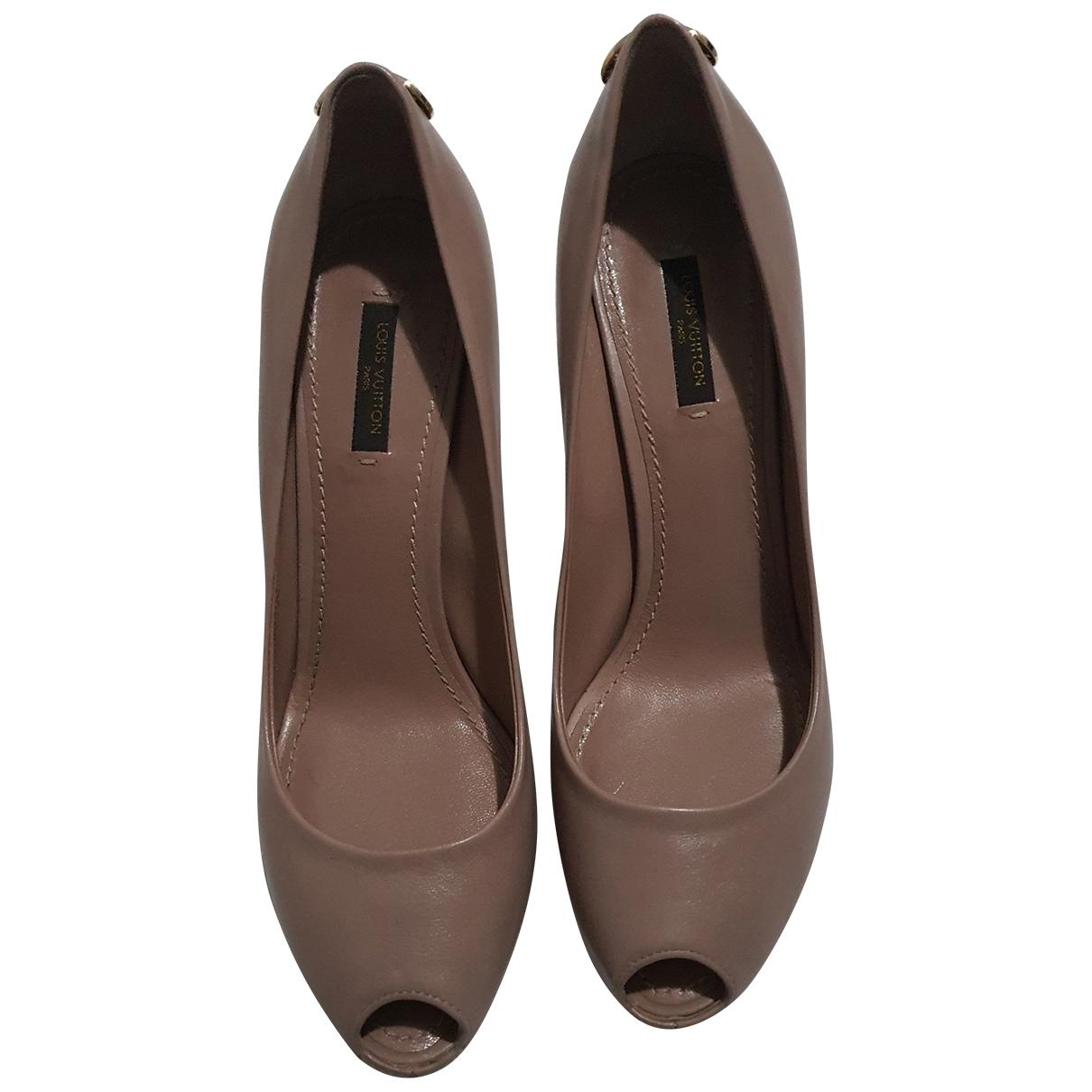 Louis Vuitton \N Beige Leather Heels for Women 38.5 EU
