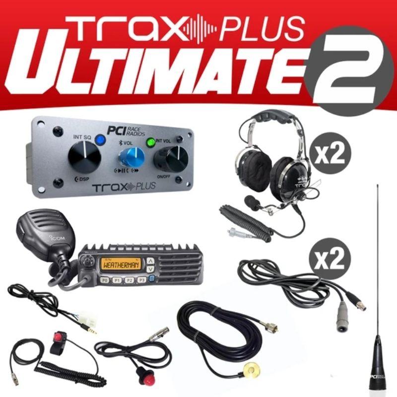 PCI Race Radios PRR2577 Trax Plus Ulitmate 2 Seat Bluetooth with Headsets On-Board Intercom