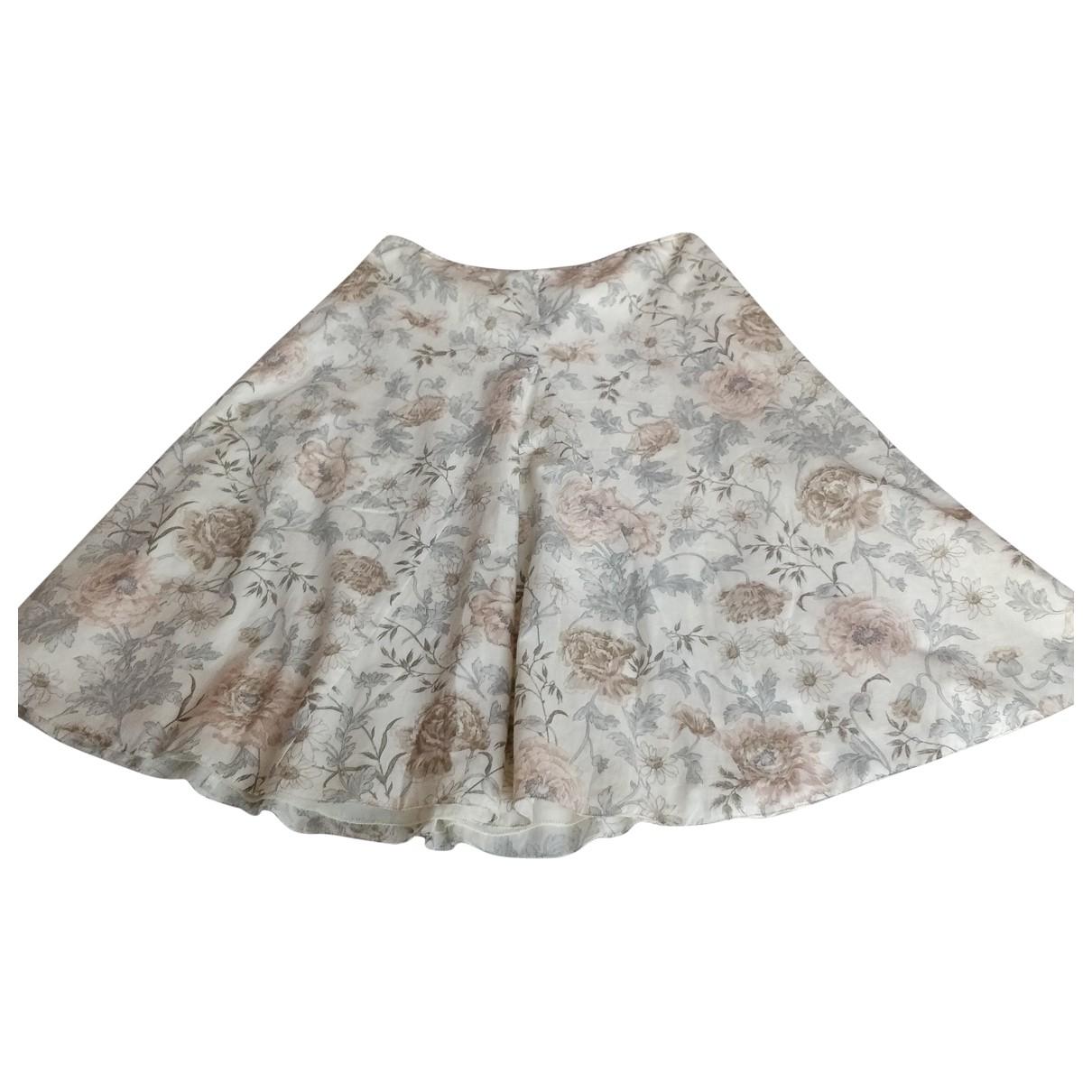 Kina Fernandez \N Ecru Cotton skirt for Women 46 FR