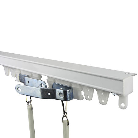 Rod Desyne Heavy-Duty Ceiling Track/Room Divider Kit, One Size , White