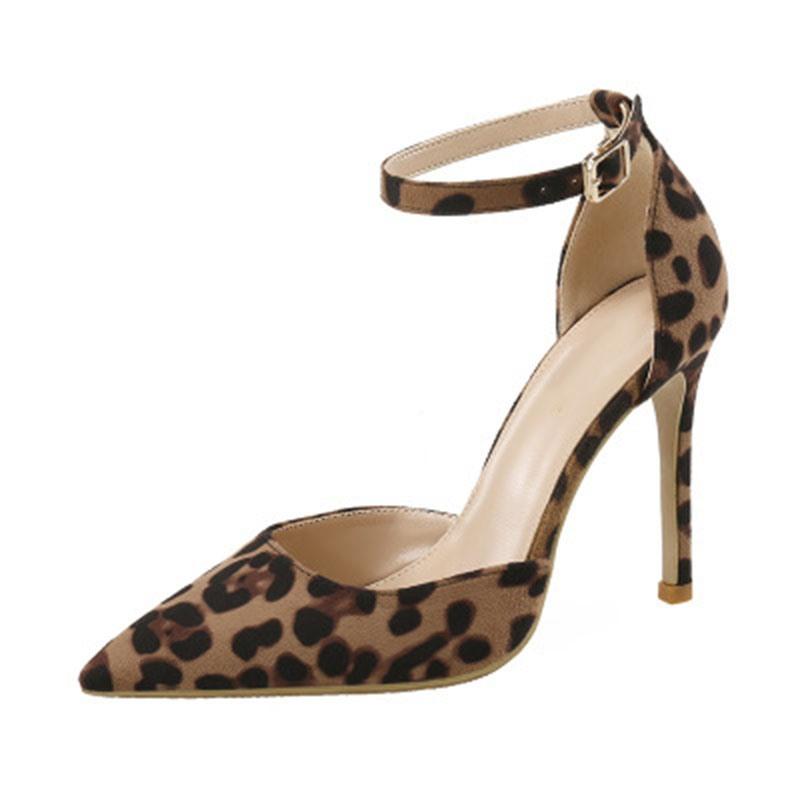 Ericdress Heel Covering Stiletto Heel Pointed Toe Print Sandals