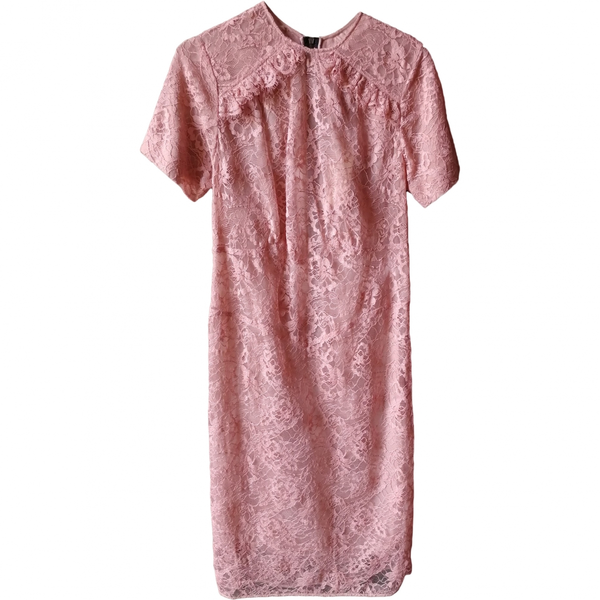 Burberry \N Pink Lace dress for Women 6 UK