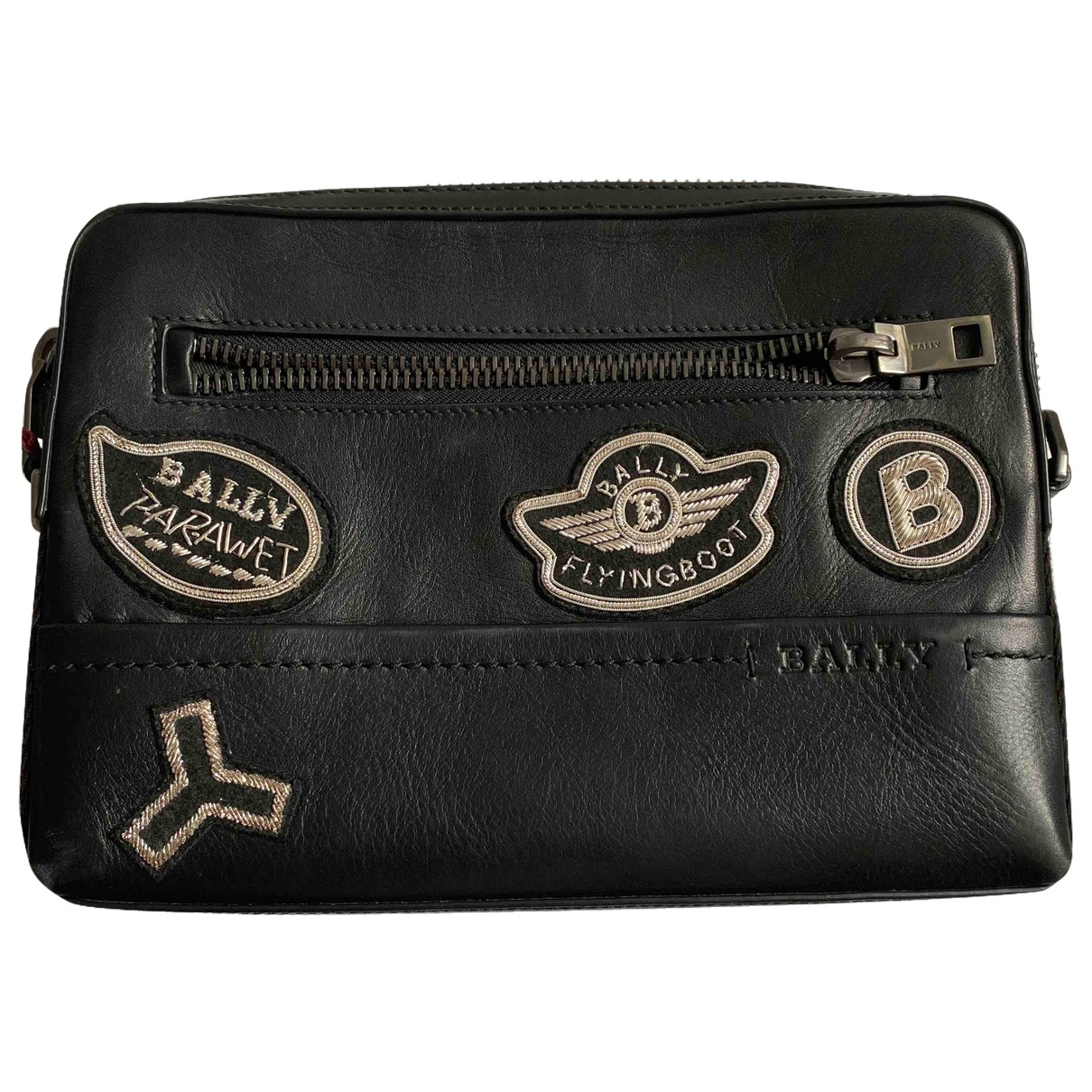 Bally \N Black Leather Small bag, wallet & cases for Men \N