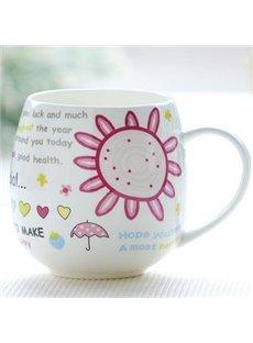 Pink Bone China Coffee Mug for Girls