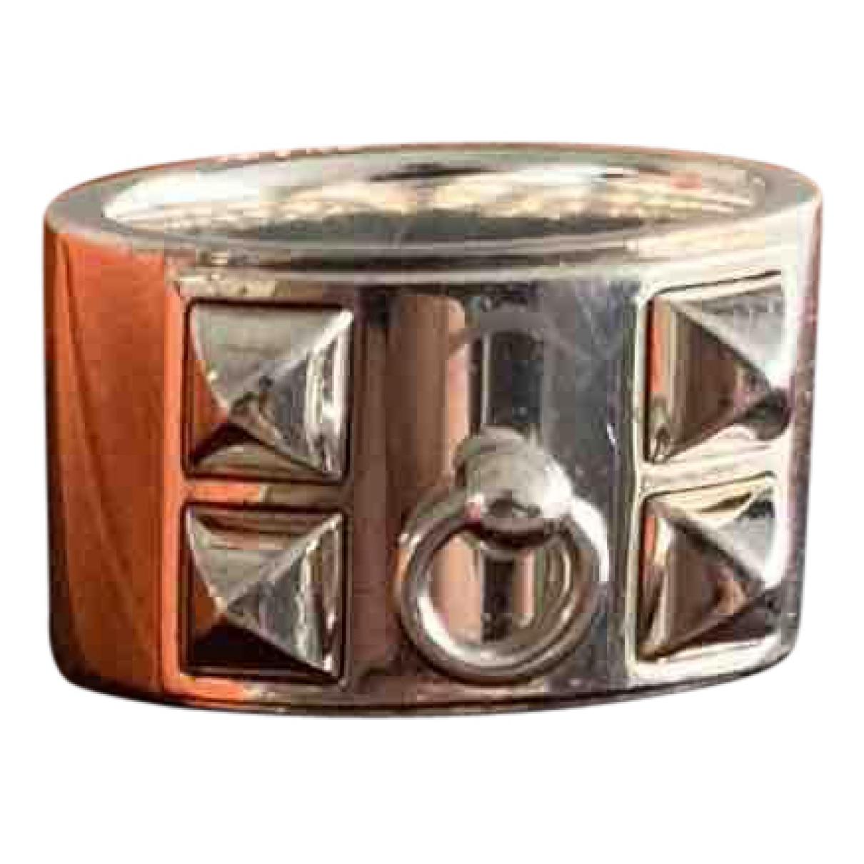 Hermès Collier de chien  Silver Silver ring for Women 52 EU