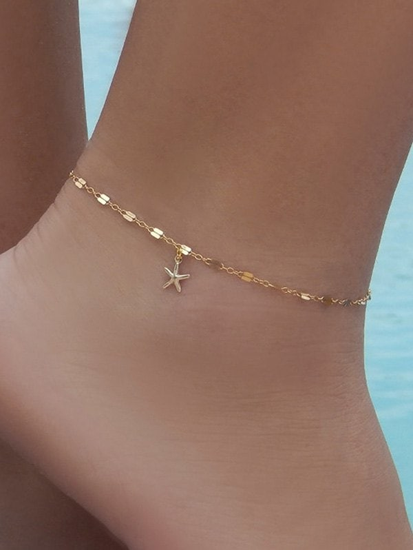 Brief Small Starfish Pendant Anklet