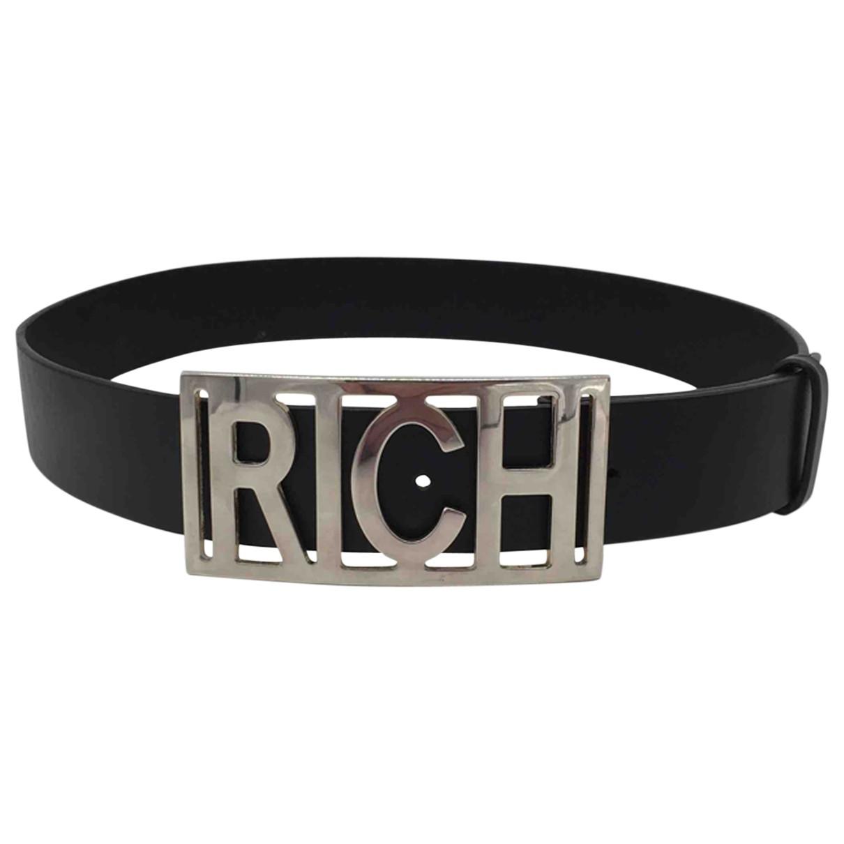 John Richmond \N Black Leather belt for Men 85 cm