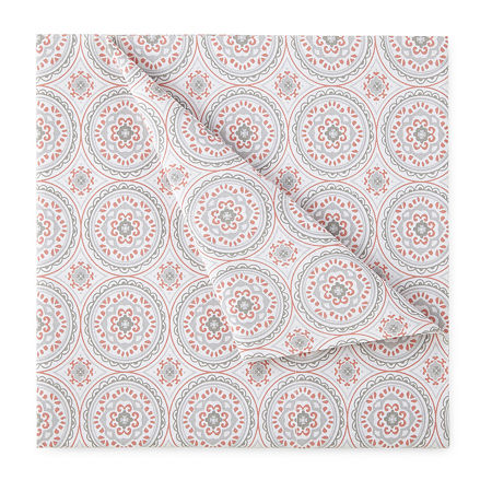 Home Expressions Cotton Designs Printed Sheet Sets, One Size , Orange