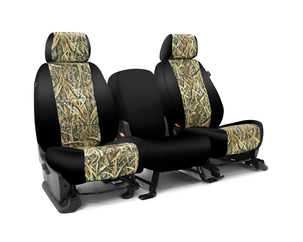 Coverking CSC2MO07RM1068 Skanda Custom Seat Covers 1 Row Neosupreme Mossy Oak Shadow Grass Blades with Black Sides Front Ram 1500 2012-2019