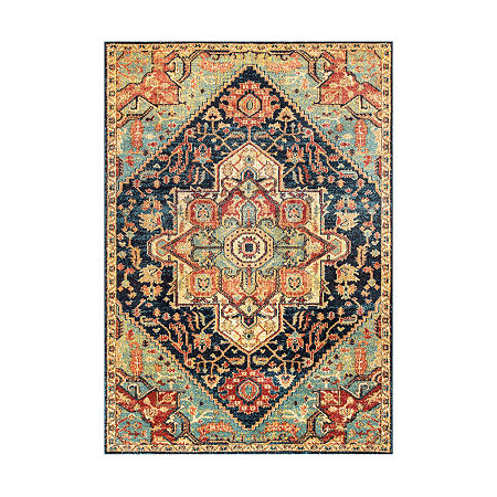 nuLoom Tribal Medallion Tabetha Rectangular Rug, One Size , Green