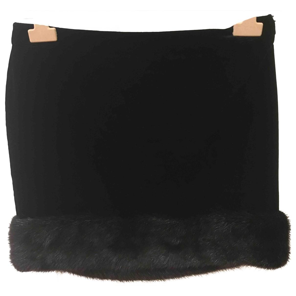 Saint Laurent \N Black Velvet skirt for Women 40 FR