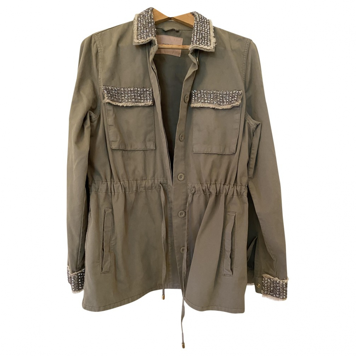 Twin Set \N Khaki Cotton jacket for Women 42 IT