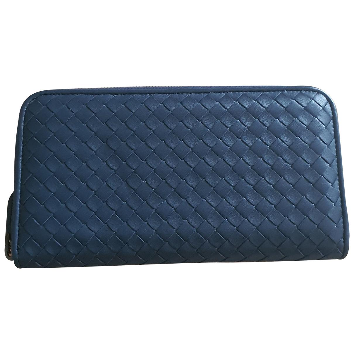 Bottega Veneta Intrecciato Blue Leather wallet for Women \N