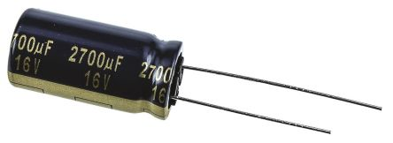 Panasonic 2700μF Electrolytic Capacitor 16V dc, Through Hole - EEUFK1C272 (5)