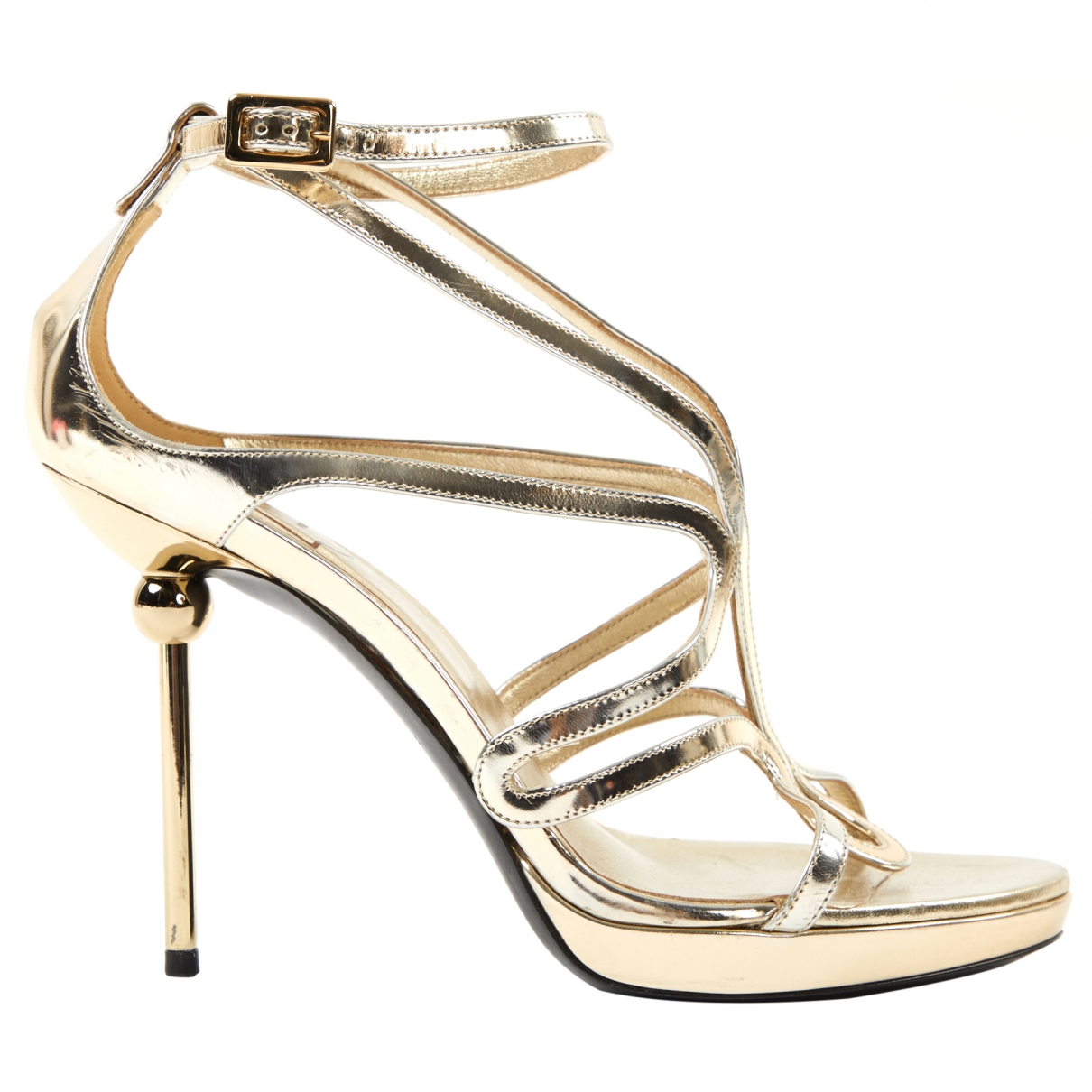 Roger Vivier \N Gold Patent leather Heels for Women 38 EU