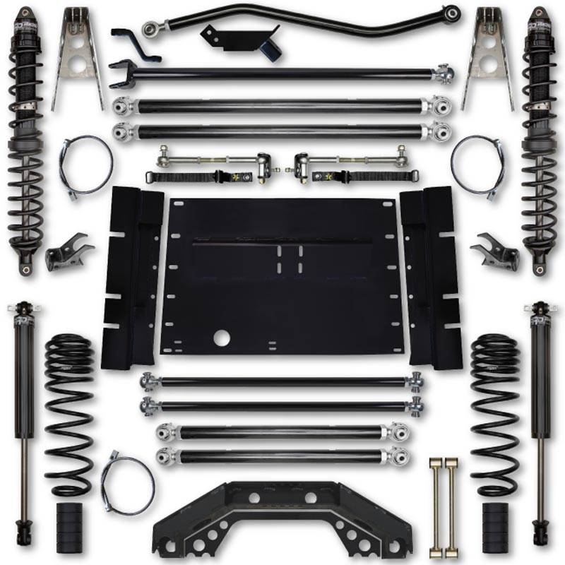 Rock Krawler TJ45COMP-02S1 TJ 4.5 Inch X Factor Long Arm Stg 1 Lift Kit w/ Coilover Shocks 03-06 Wrangler