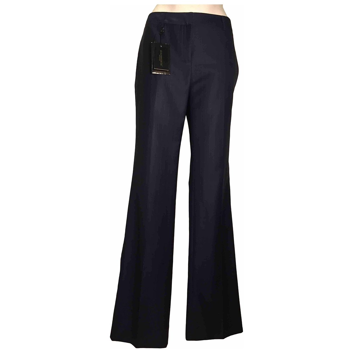 Golden Goose \N Blue Wool Trousers for Women M International
