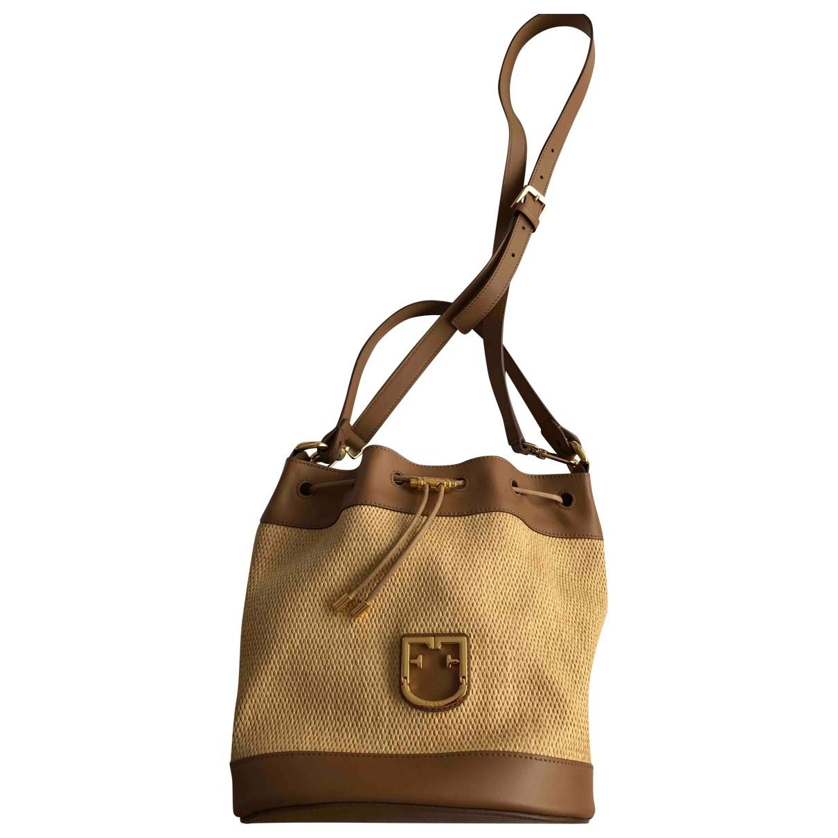 Furla \N Brown Wicker handbag for Women \N
