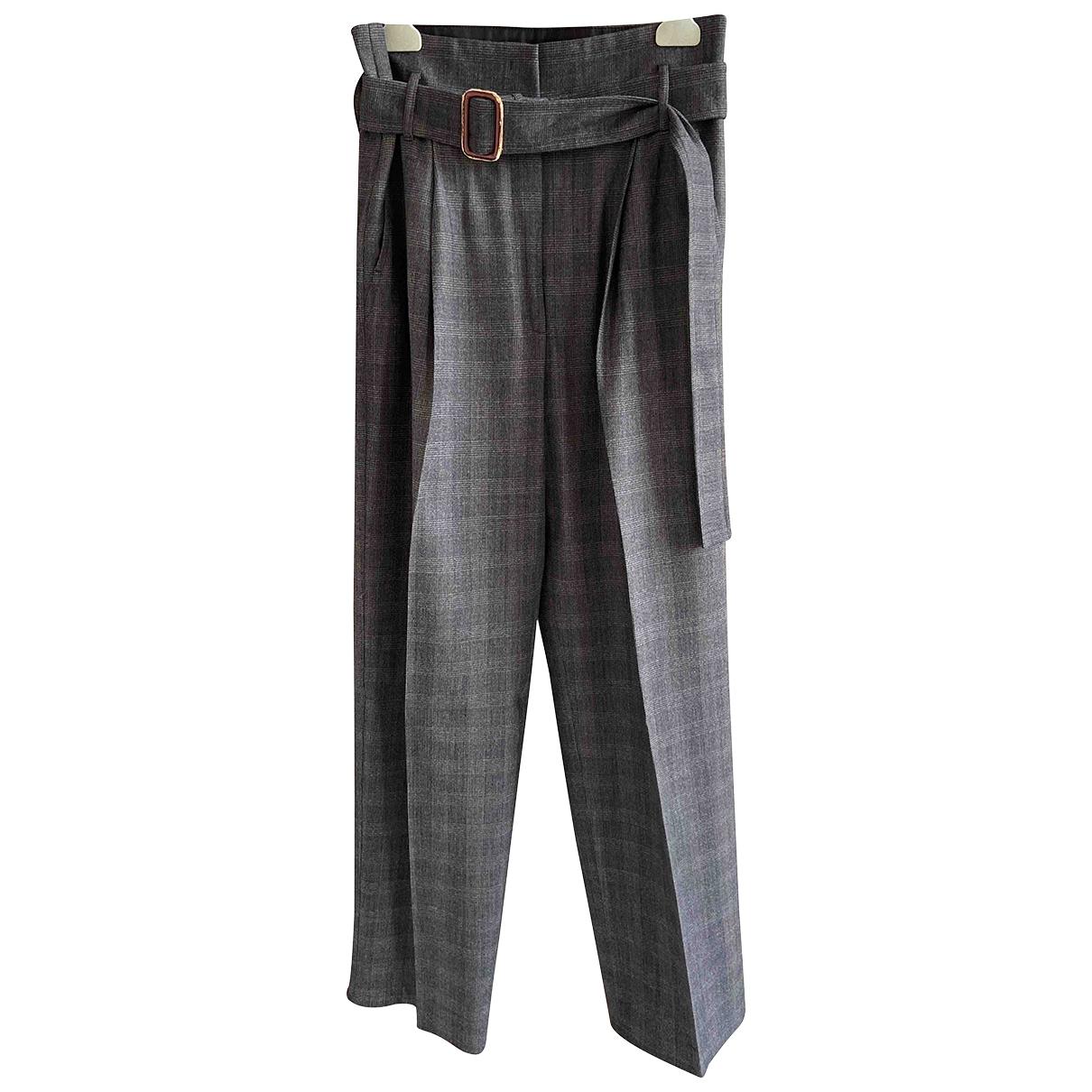 Max Mara Weekend \N Grey Wool Trousers for Women 40 FR