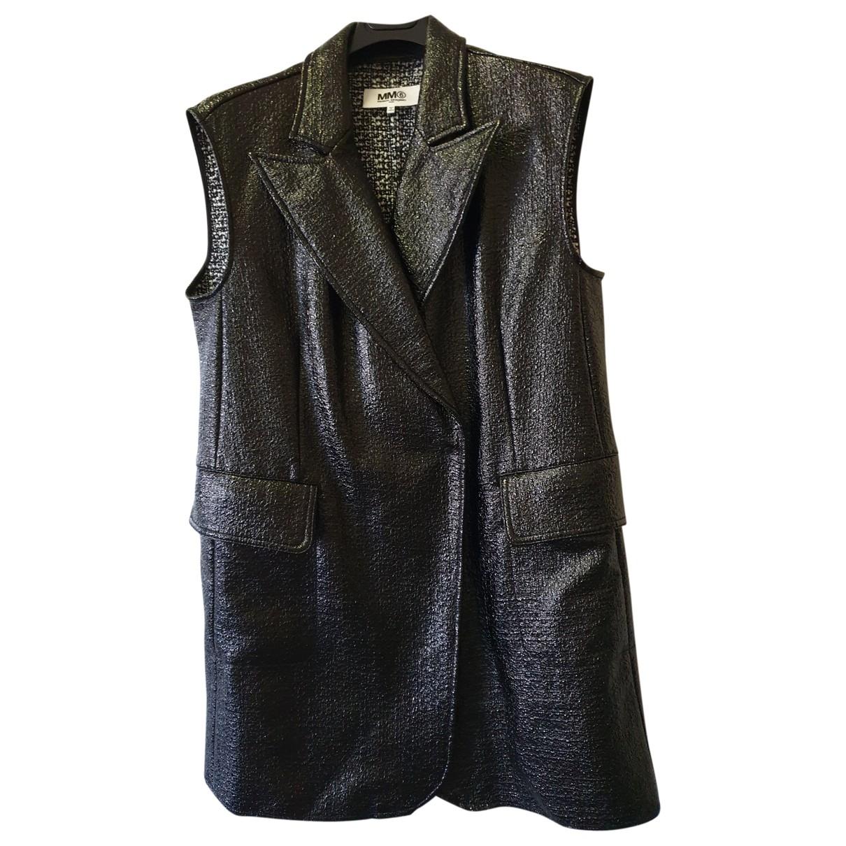 Mm6 \N Black jacket for Women 40 IT