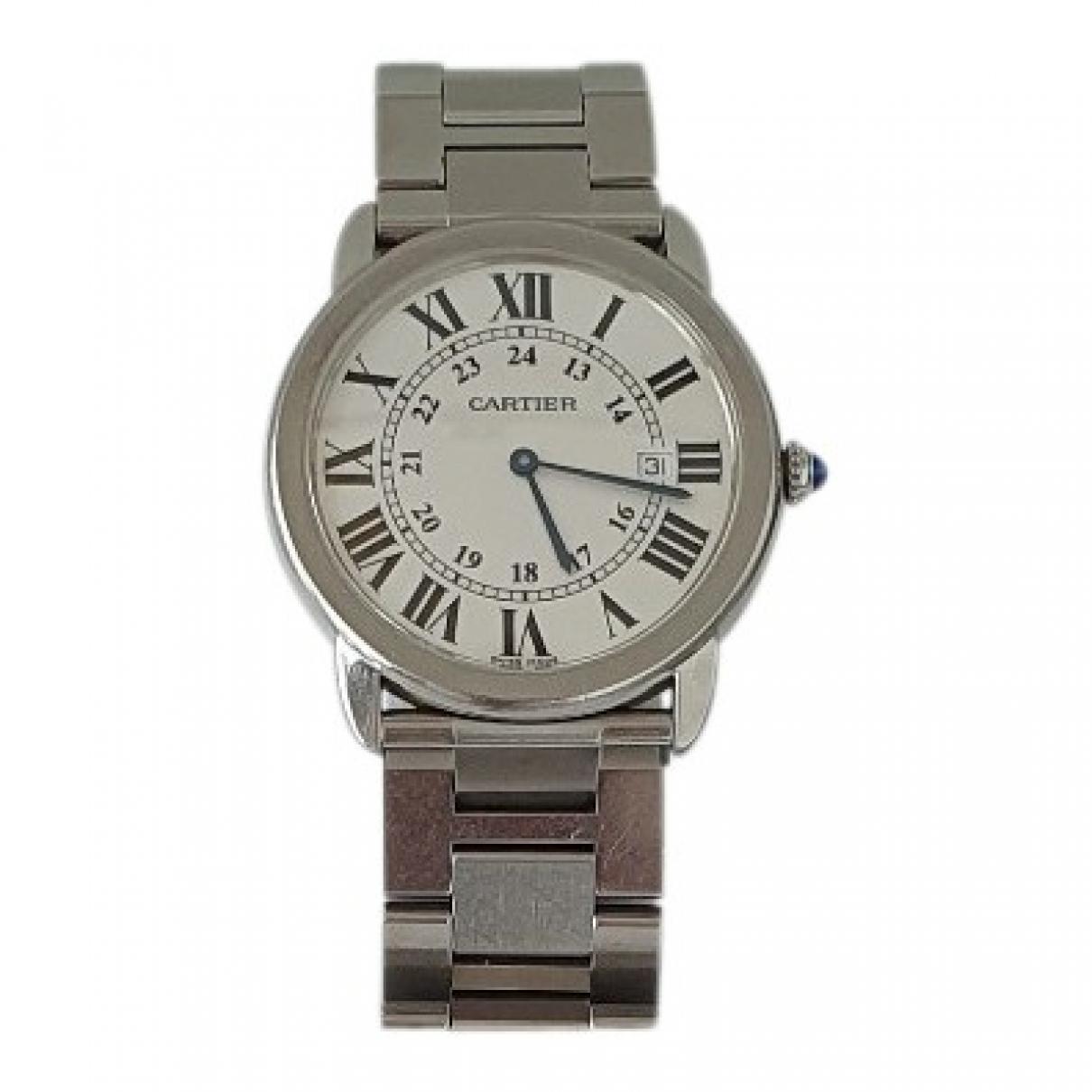 Cartier Ronde Solo Silver Steel watch for Women \N