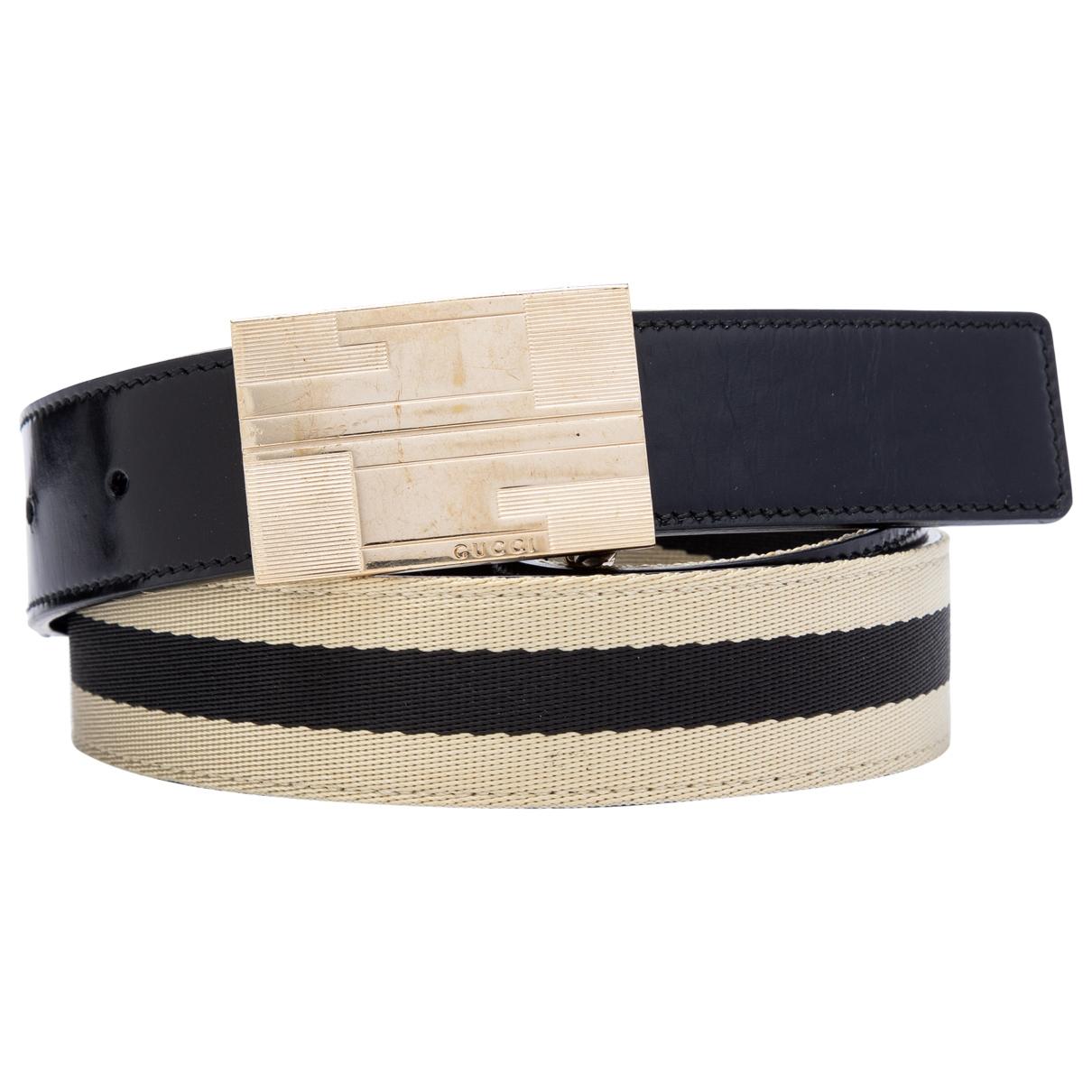 Gucci \N Black Leather belt for Men 85 cm