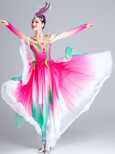 Milanoo Traditional Chinese Costumes Asian Dance Dress Nice Carnival Costumes