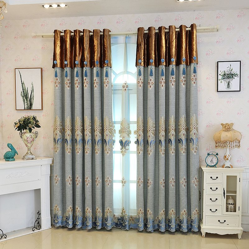 Vintage Black Out Sliding Door Curtains Chenille Custom Grommet Curtains Online 2 Panel Set 84 Inches Wide and 84 Inches Blocks Out 95% of Light and 1