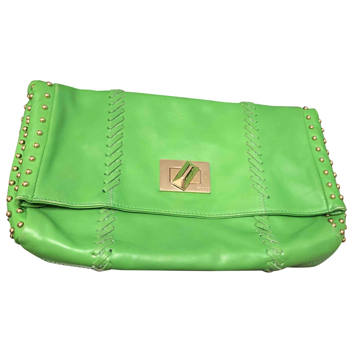 Emilio Pucci \N Green Leather Clutch bag for Women \N