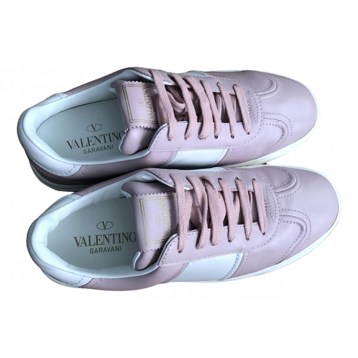 Valentino Garavani \N Pink Leather Trainers for Women 36 EU