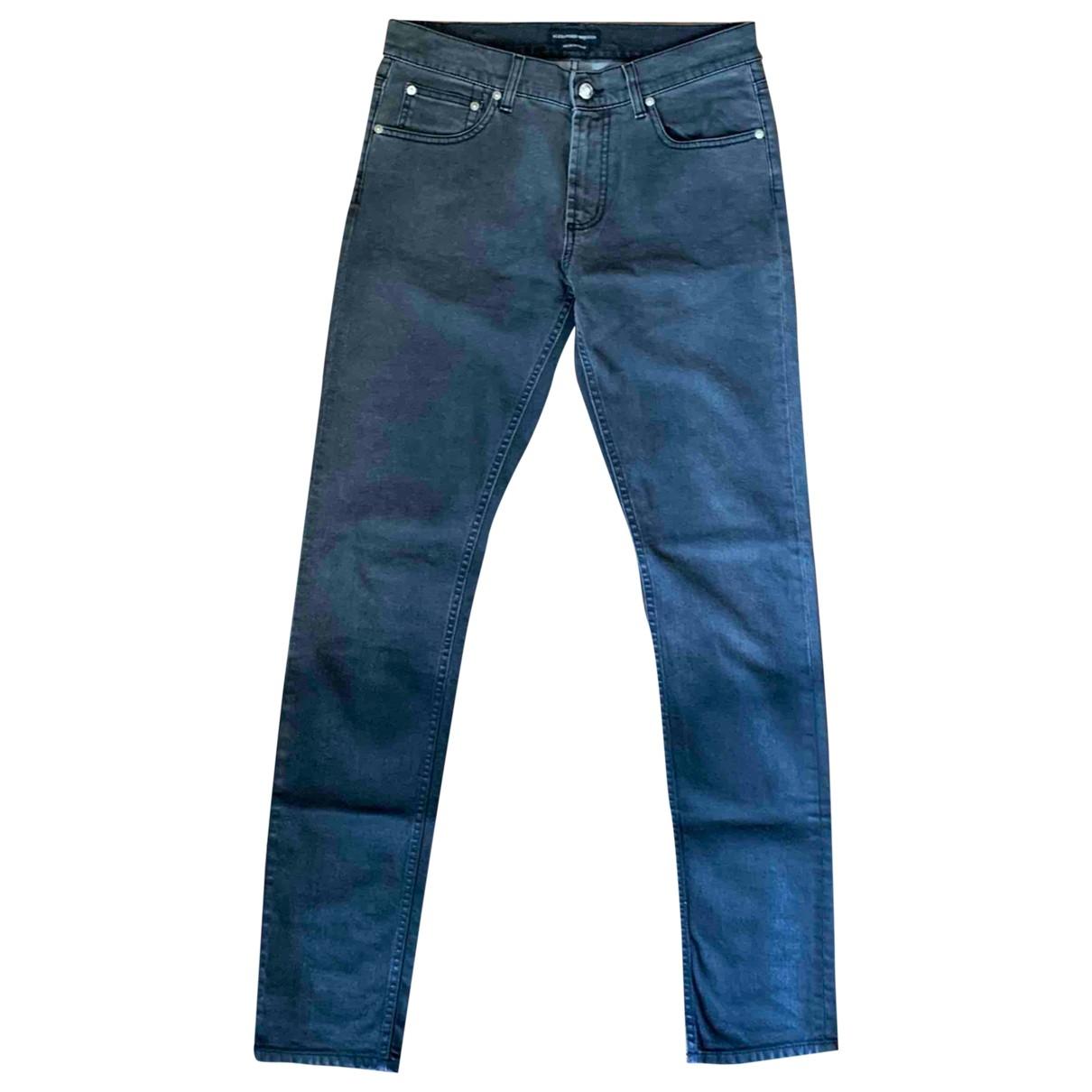 Alexander Mcqueen \N Grey Cotton - elasthane Jeans for Men 40 - 42 FR