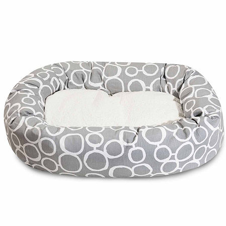 Majestic Pet Fusion Sherpa Bagel Pet Bed, One Size , Gray