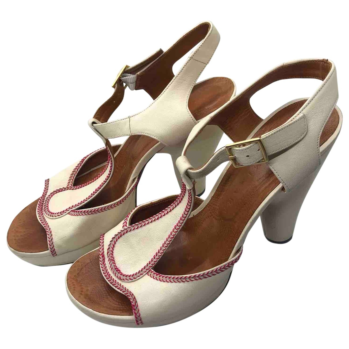 Chie Mihara \N White Leather Heels for Women 40 EU
