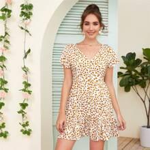 Dalmatian Print Button Front A-line Dress