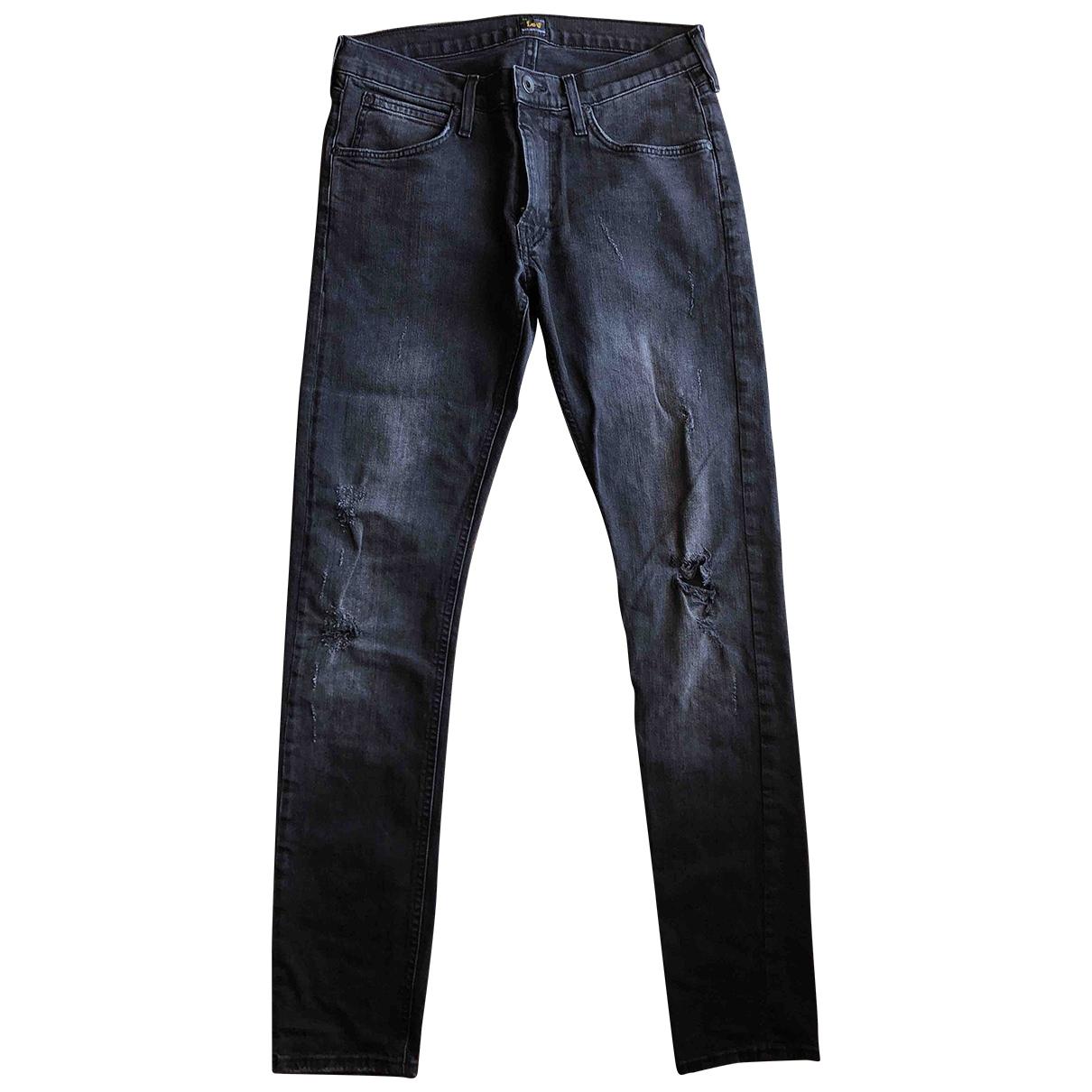 Lee \N Black Cotton - elasthane Jeans for Women 30 US