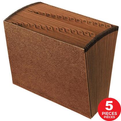 Pendaflex® Portefeuilles en expansion & Expansion des fichiers, 5/Paquet - lettre, 1-31