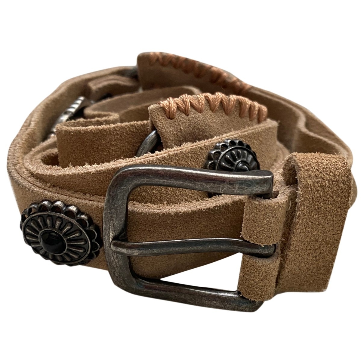 Non Signé / Unsigned \N Suede belt for Women S International