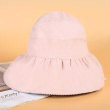 Toddler Girls Striped Pattern Visor Hat