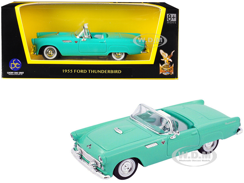 1955 Ford Thunderbird Turquoise 1/43 Diecast Model Car by Road Signature