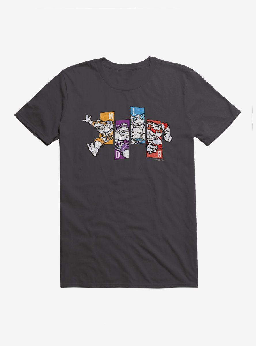 Teenage Mutant Ninja Turtles Comic Line Up T-Shirt