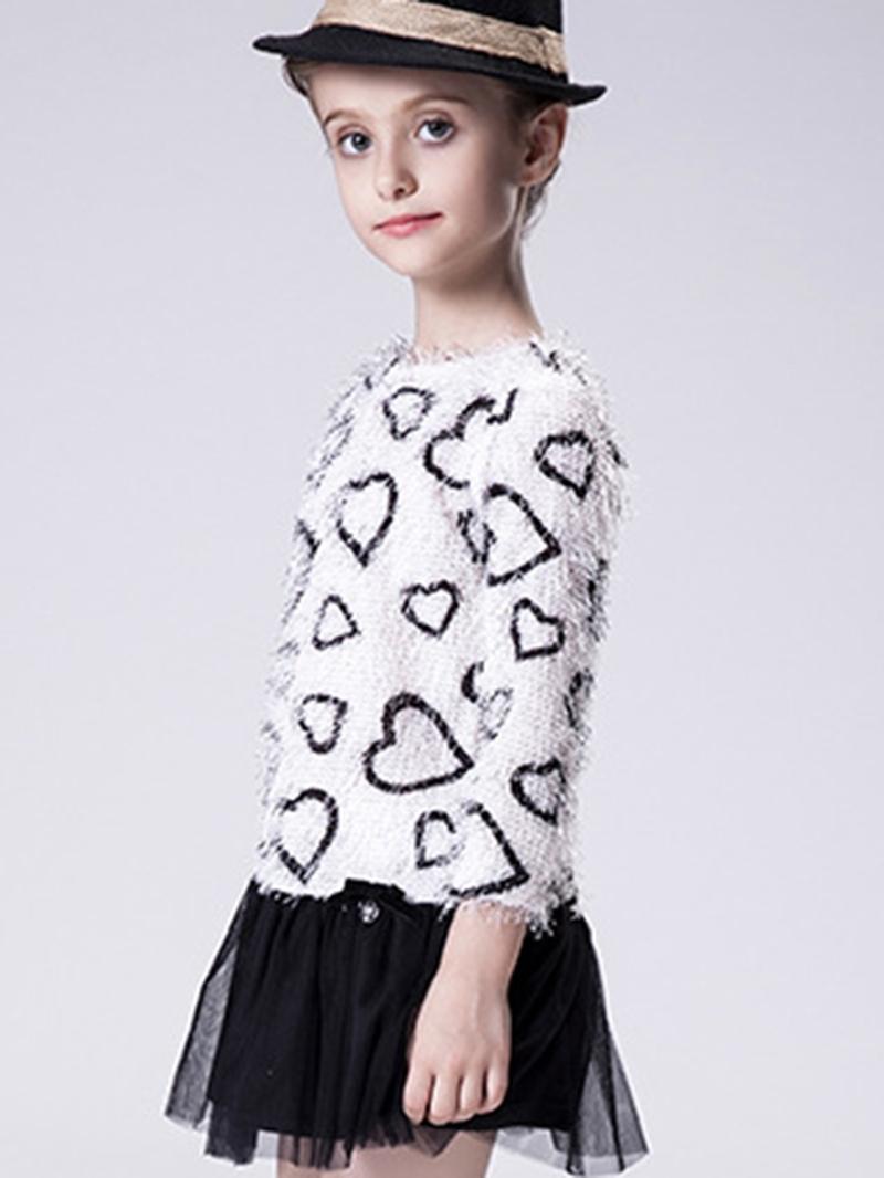 Ericdress Knitting Heart-shaped Back Opening Girls Outerwears