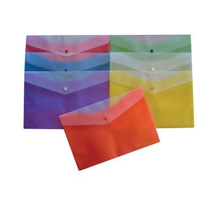 Geo@ ouverture bouton lat eral givr e aligner plastique document enveloppe, 12 / paquet